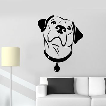 Vinyl Wall Decal Labrador Dog Head Pet Grooming Beauty Salon Stickers (2410ig)