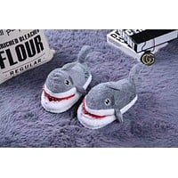 Fashion Boys Girl Shark Plush Slipper F-ALG-CPFS