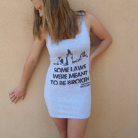 "Mortal Instruments ""Some Laws"" Cotton Jersey Tank T-Shirt Dress"