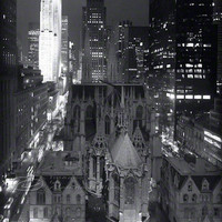 St Patricks Cathedral NYC photo night black & white by ImagesByCW