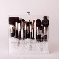 DIAMOND BRUSH HOLDER WITH LID / BELLAPOSH ORGANIZERS