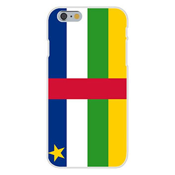 Apple iPhone 6 Custom Case White Plastic Snap On - Central African Republic - World Country National Flags