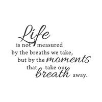 "wall quotes wall decals - ""Moments that take our breath away"""