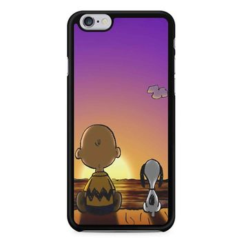 Snoopy And Charlie Brown Sunset iPhone 6/6S Case