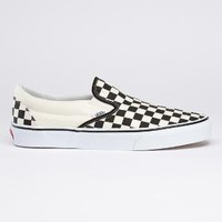 Item: Classic Slip-On (Black/Off White Check, size 6.5 Men = 8.0 Women)