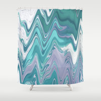 Ripple Waves Shower Curtain by sm0w