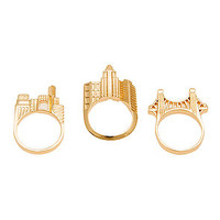 The nOir x DC Comics Gotham City Stackable Ring Set