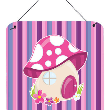 Fairy House Pink and Purple Wall or Door Hanging Prints BB6908DS66