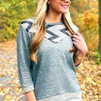 Gunmetal Glamour Sweater