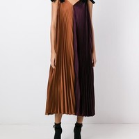 Roksanda Velvet Bow Pleated Dress - Farfetch