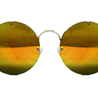 Spitfire - Poolside Silver Sunglasses, Gold Mirror Lenses