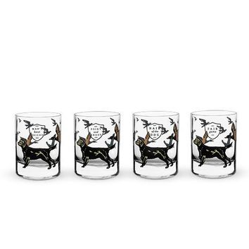 Hunting Dog Whiskey Glass Set by Foster & Rye