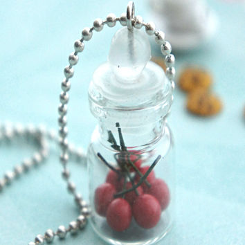 cherries in a jar necklace
