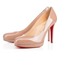 Best Online Sale Christian Louboutin Cl New Simple Pump Nude Patent Leather 100mm Stiletto Heel Classic