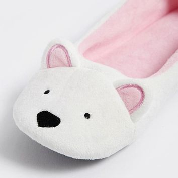 Bear Fleece Slippers