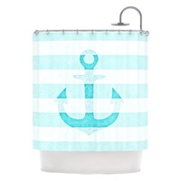 "Kess Inhouse Monika Strigel ""Stone Vintage Anchor"" Shower Curtain 