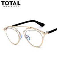 Totalglasses  Gold Metal Sunglasses Women Original Brands Designer Sunglasses Fashion Summer Style Female Sunglases Oculos