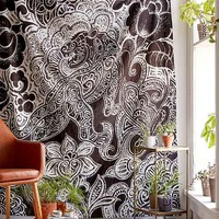 4040 Locust Samong Charcoal Tiger Tapestry
