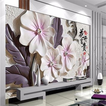beibehang papel de parede 3D photo for living room TV wall wallpaper for walls 3 d embossed backdrop wall paper mural painting