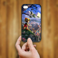 Disney Pinocchio In His World - Print Hard Case - iPhone 4/4s Case - iPhone 5 Case - Black - White (Option Please)