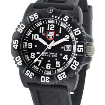 Luminox Midsize Colormark 38mm - Black Carbon Reinforced - White - Rubber Strap