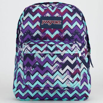 Jansport Superbreak Backpack Purple Night Ziggy Stripe One Size For Women 21498476601