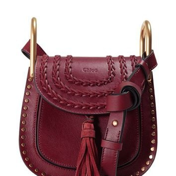 CHLOÉ 'Small Hudson' Studded Calfskin Leather Crossbody Bag