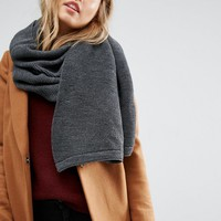 Pieces Ribbed Oversized Blanket Scarf at asos.com