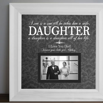 Father of the Bride-Father of the Bride Gift-Father of the Bride Frame-Parents of the Bride-Parents Thank You Gift Wedding-Dad Wedding-15x15