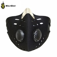 WOLFBIKEOutdoor Face Mask Filter Air Pollutant For Bicycle Road Bike MTB Cycling Motorcycle Riding Mouth-Muffle Dustproof PM.25