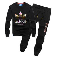 ADIDAS Top Sweater Pullover Pants Trousers Set Two-Piece Sportswear