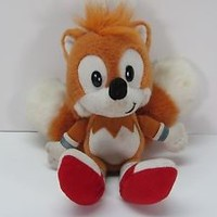 SEGA Sonic The Hedgehog Miles Tails Prower Fox Vintage Rare Plush Caltoy 1994
