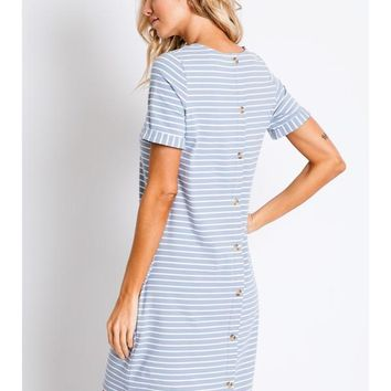Happy To Be Here Striped Dress