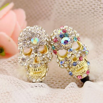 1pcs of Bling Crystal Skull Dust Plug iPhone Earphone Plug Dust Plug