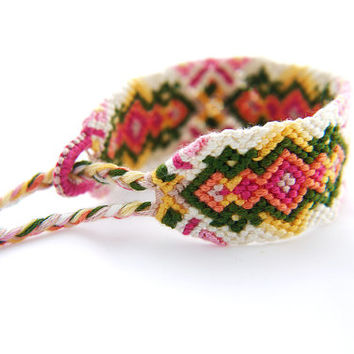 Spring Handwoven Braided Friendship Bracelet - Easy to Wear Micro Macrame Jewelry Gift for Best Friends