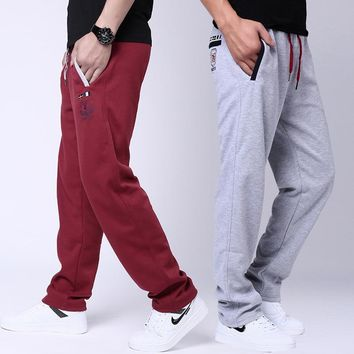 Casual Cotton Sports Pants Thicken Plus Size Sportswear [290340896797]
