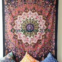 Star Tapestry Hippie Tapestries Wall Hanging Cotton Bed Sheet Cover Bohemian Boho Coverlet Twin Bedspread