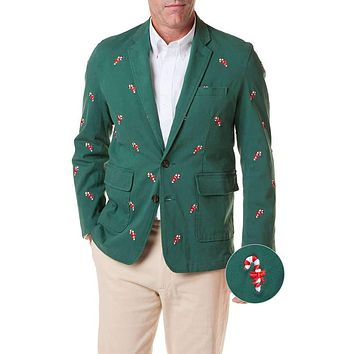 Spinnaker Blazer with Embroidered Candy Canes by Castaway Clothing