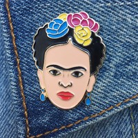 Frida Enamel Pin, Soft Enamel Pin, Frida Kahlo, Frida, Artist, Lapel Pin, Jewelry (Item PIN7)