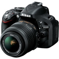 Walmart: Nikon D5200 Digital SLR Camera with 24.1 Megapixels and 18-55mm Lens Included (Available in multiple colors)