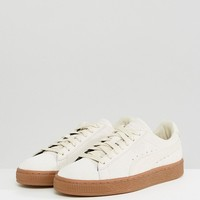 Puma Suede Classic Trainers With Gum Sole In Beige at asos.com