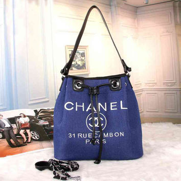 CHANEL Women Shopping Bag Leather Tote Handbag Satchel Shoulder Bag