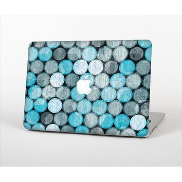 The Vintage Scratched Blue & Graytone Polka Skin Set for the Apple MacBook Air 11""