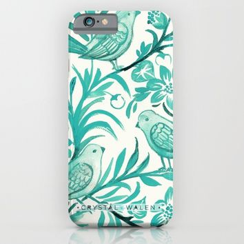 Blue Birds iPhone & iPod Case by CRYSTAL WALEN