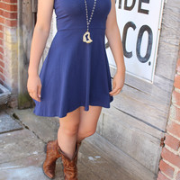 Cobalt Blue Skater Dress