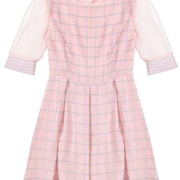 Pink Grid Dress - INU INU