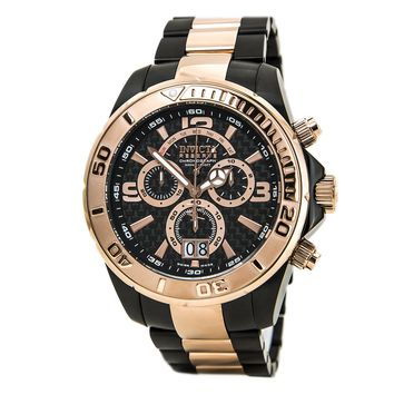 Invicta 14055 Men's Reserve Black Dial Two Tone Steel Bracelet Chronograph Dive Watch