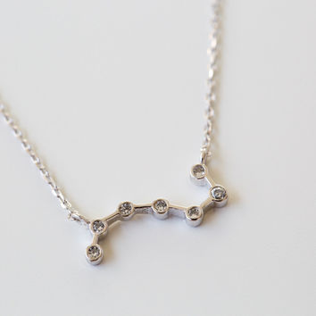 925 cz element symbol necklace