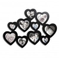 Adeco 10-Opening Hearts Collage Picture Frame