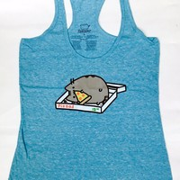 Pusheen The Cat PIZZA PUSHEEN Ladies Junior Tank Top NWT 100% Authentic